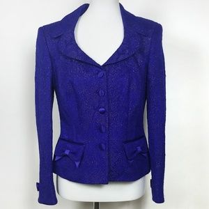 Escada Brocade Purple Evening Blazer Jacket